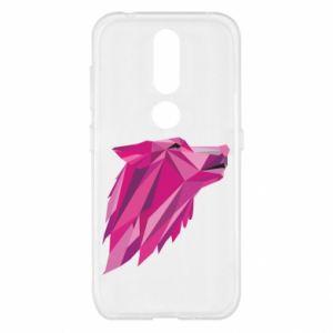 Etui na Nokia 4.2 Wolf graphics pink
