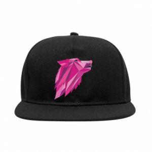 Snapback Wolf graphics pink