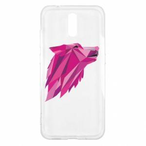 Etui na Nokia 2.3 Wolf graphics pink