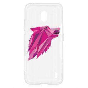 Etui na Nokia 2.2 Wolf graphics pink