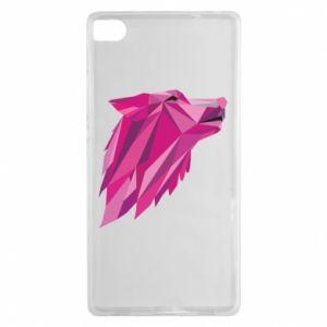 Etui na Huawei P8 Wolf graphics pink