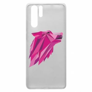 Etui na Huawei P30 Pro Wolf graphics pink