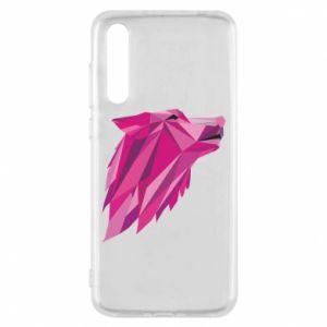 Etui na Huawei P20 Pro Wolf graphics pink
