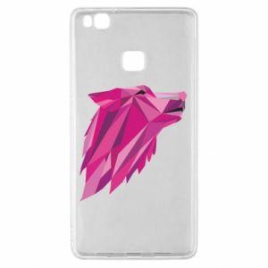 Etui na Huawei P9 Lite Wolf graphics pink