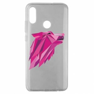 Etui na Huawei Honor 10 Lite Wolf graphics pink