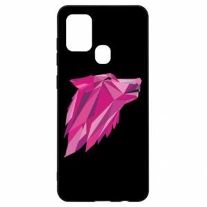 Etui na Samsung A21s Wolf graphics pink