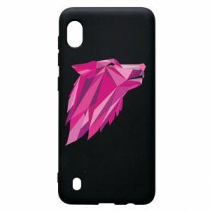 Etui na Samsung A10 Wolf graphics pink