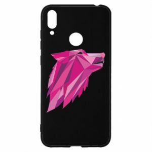 Etui na Huawei Y7 2019 Wolf graphics pink