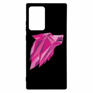 Etui na Samsung Note 20 Ultra Wolf graphics pink