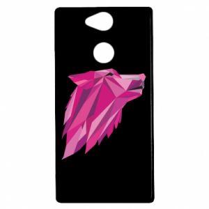 Etui na Sony Xperia XA2 Wolf graphics pink