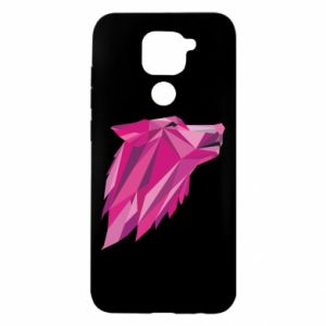 Etui na Xiaomi Redmi Note 9/Redmi 10X Wolf graphics pink