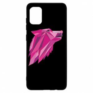 Etui na Samsung A31 Wolf graphics pink