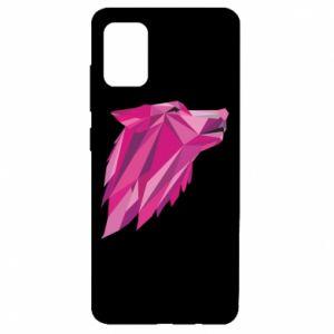 Etui na Samsung A51 Wolf graphics pink