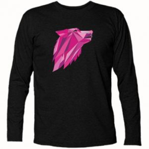 Long Sleeve T-shirt Wolf graphics pink