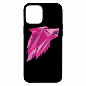 Etui na iPhone 12 Pro Max Wolf graphics pink