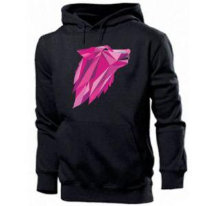 Męska bluza z kapturem Wolf graphics pink