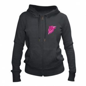 Damska bluza na zamek Wolf graphics pink