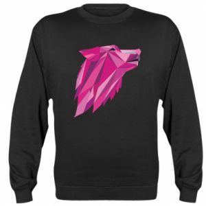 Bluza (raglan) Wolf graphics pink