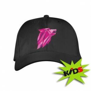 Dziecięca czapeczka z daszkiem Wolf graphics pink