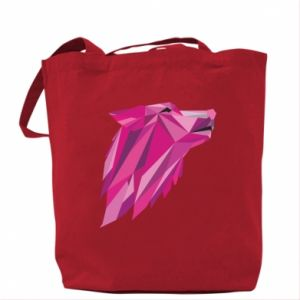 Torba Wolf graphics pink