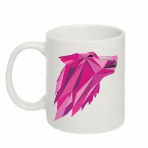 Mug 330ml Wolf graphics pink