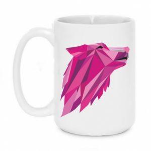 Kubek 450ml Wolf graphics pink
