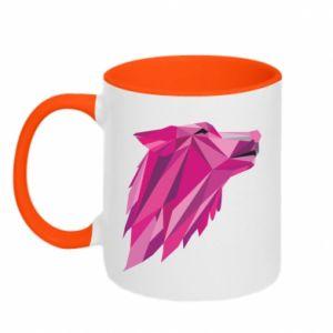 Kubek dwukolorowy Wolf graphics pink