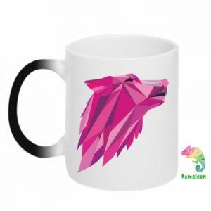 Kubek-kameleon Wolf graphics pink