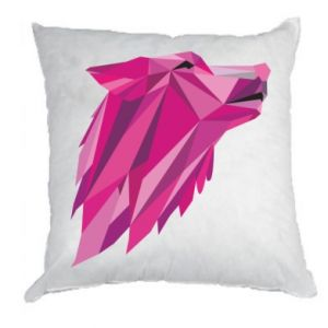 Pillow Wolf graphics pink