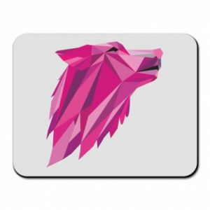 Mouse pad Wolf graphics pink