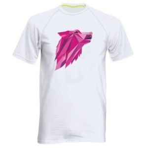 Men's sports t-shirt Wolf graphics pink