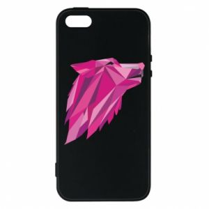 Etui na iPhone 5/5S/SE Wolf graphics pink