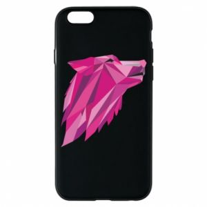 Etui na iPhone 6/6S Wolf graphics pink
