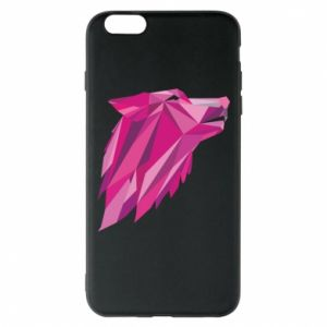 Etui na iPhone 6 Plus/6S Plus Wolf graphics pink