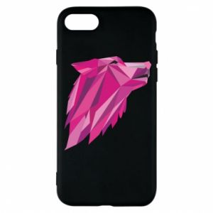 Etui na iPhone 7 Wolf graphics pink