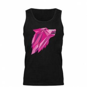 Męska koszulka Wolf graphics pink