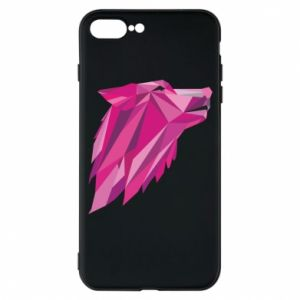 Etui na iPhone 7 Plus Wolf graphics pink