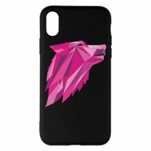 Etui na iPhone X/Xs Wolf graphics pink