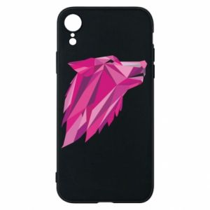 Etui na iPhone XR Wolf graphics pink