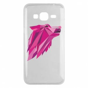 Phone case for Samsung J3 2016 Wolf graphics pink - PrintSalon