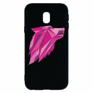 Etui na Samsung J3 2017 Wolf graphics pink