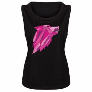 Damska koszulka bez rękawów Wolf graphics pink
