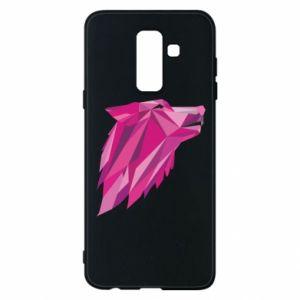 Etui na Samsung A6+ 2018 Wolf graphics pink