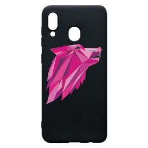 Etui na Samsung A20 Wolf graphics pink