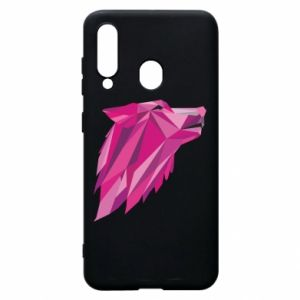 Phone case for Samsung A60 Wolf graphics pink - PrintSalon