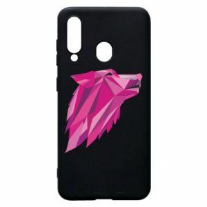 Etui na Samsung A60 Wolf graphics pink