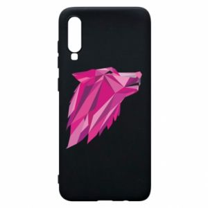 Phone case for Samsung A70 Wolf graphics pink - PrintSalon