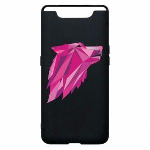 Etui na Samsung A80 Wolf graphics pink