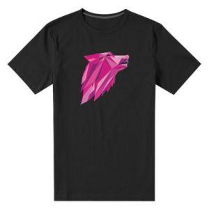 Męska premium koszulka Wolf graphics pink