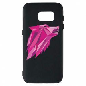 Etui na Samsung S7 Wolf graphics pink